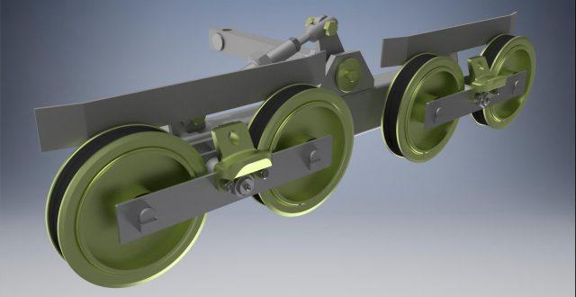 Балансир 4х роликовый универсальный с осью