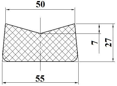 Профиль резиновый У32